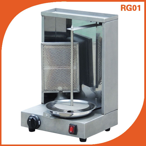 Single Burner Gas doner kebab Shawarma Machine Grill RG01