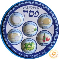 Disposable Seder Plates (BL) - PACK OF 10