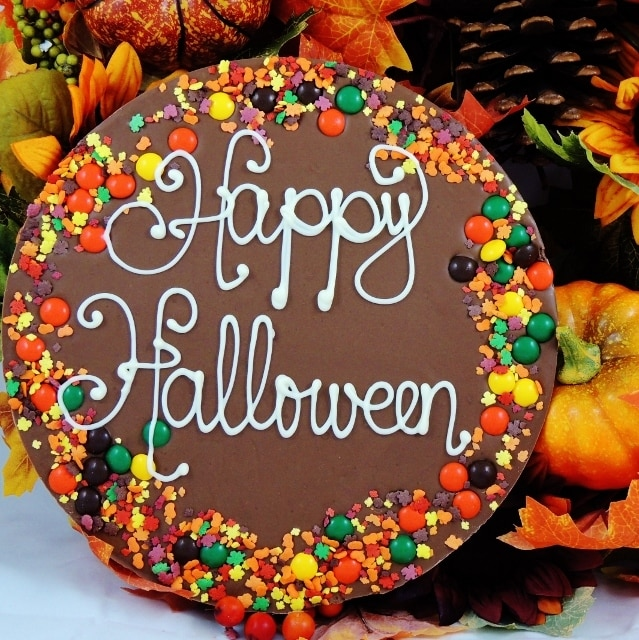 Halloween Gift Chocolate Pizza Candy Or Nut Border