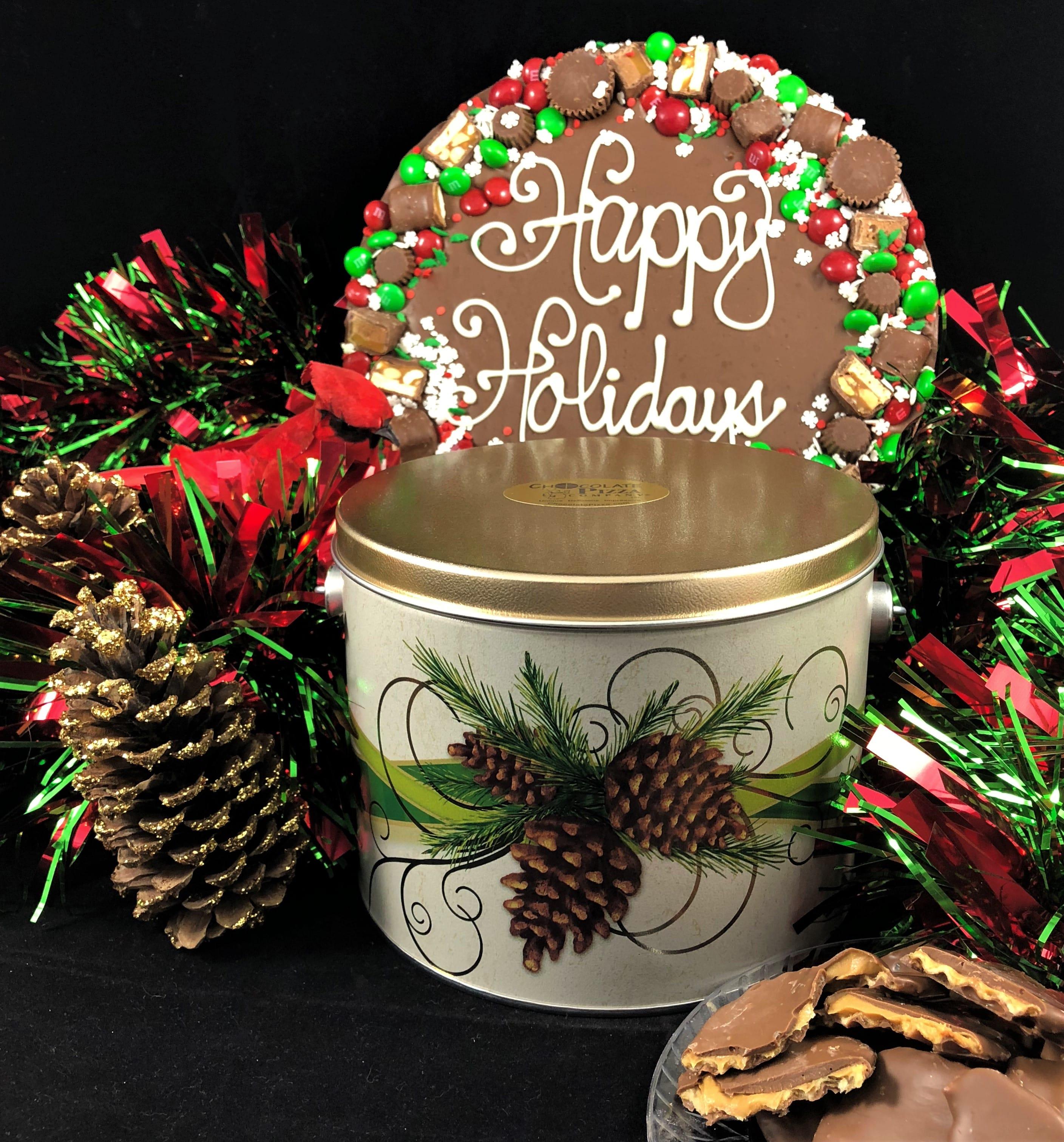 combo happy holidays chocolate
