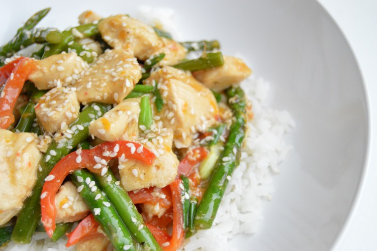 Light Orange Asparagus Chicken
