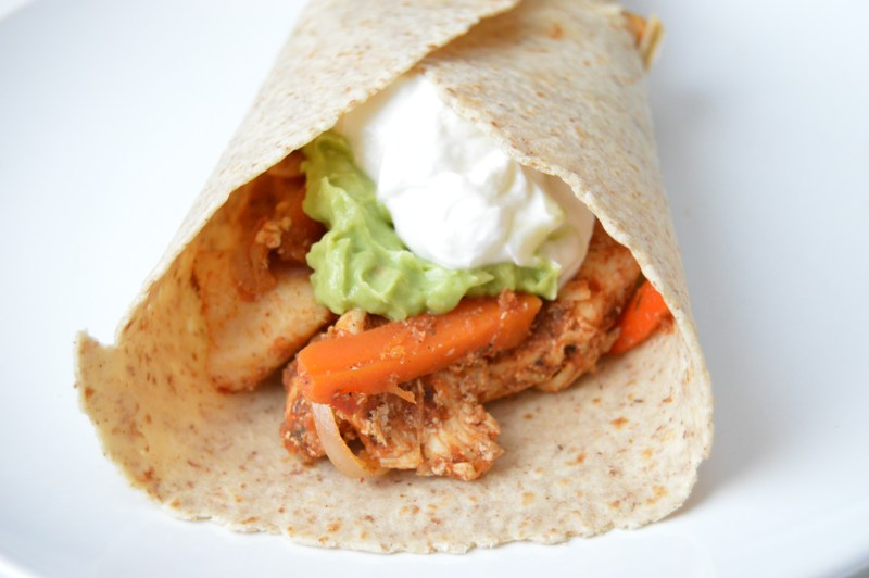 Chicken Carrot Fajitas