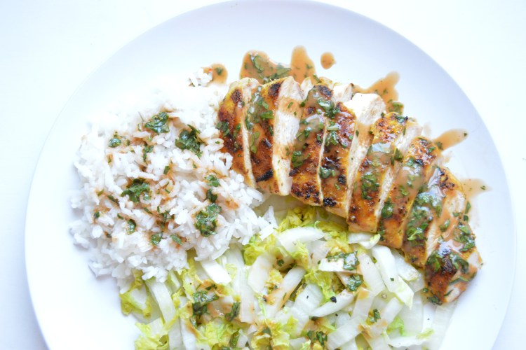 Grilled Curry Ginger Chicken