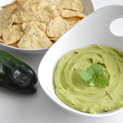 Roasted Poblano Cilantro Hummus