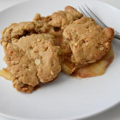 Peanut Butter Cookie Apple Cobbler