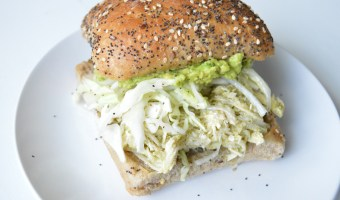 Shredded Tomatillo Chicken or Pork Sandwiches