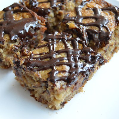 Healthy Peanut Butter Banana Blondies