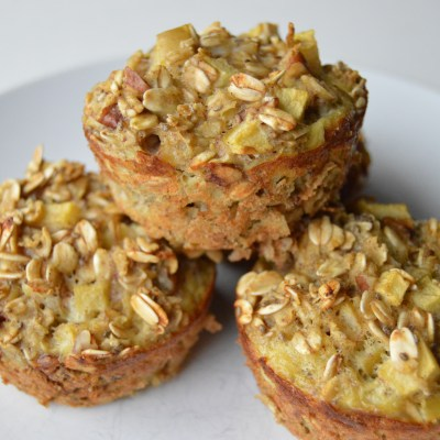 Apple Pecan Oat Breakfast Cups