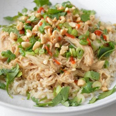 Slow Cooker Coconut Peanut Chicken