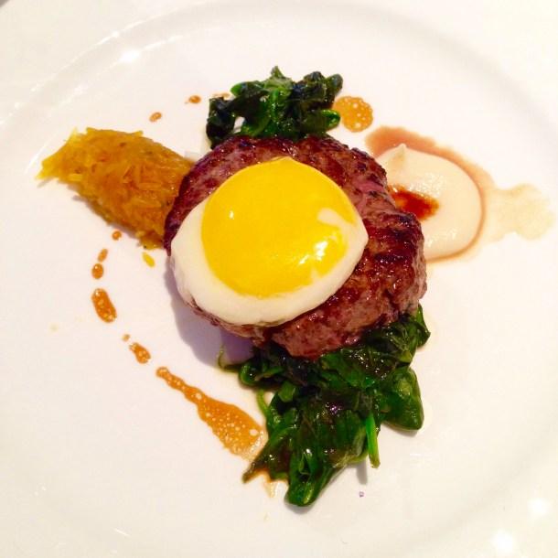 Venison & Beef Haché, venison, beef, hache, haché, auberge du pommier, toronto, canada, winterlicious, restaurant, restaurant review,