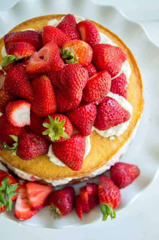 Balsamic Strawberries And Pound Cake