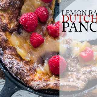 Lemon Raspberry Dutch Baby Pancake