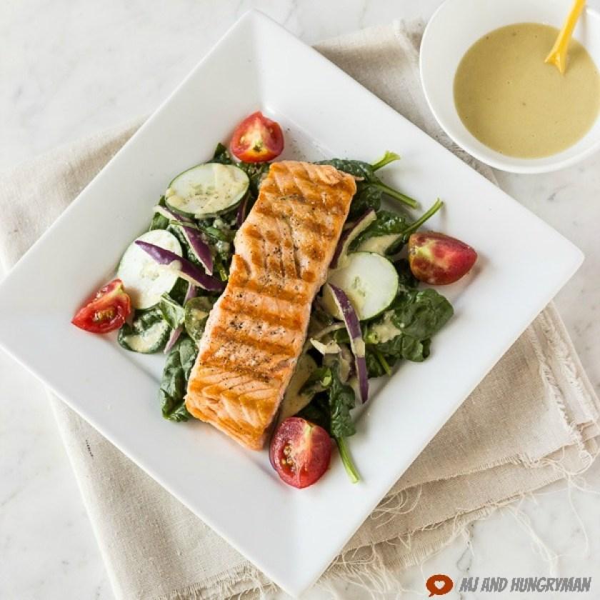 Salmon-Salad-w-Tahini-Lemon-Dressing Min Kwon