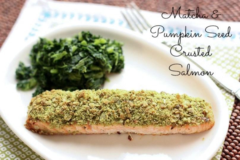 matcha-tea-and-pumpkin-seed-crusted-salmon Danielle Omar