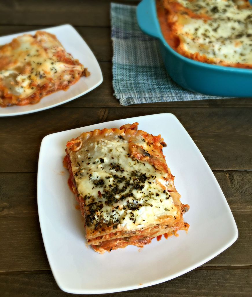Garden Vegetable Lasagna {Freezer Friendly}