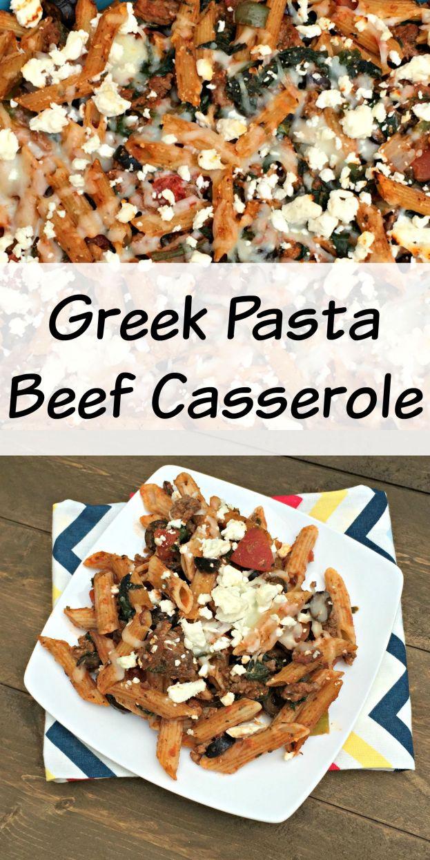 Greek Pasta Beef Casserole