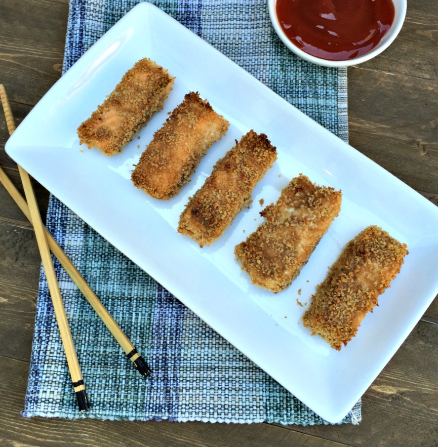 Healthy asian salmon sticks for Salmon fish sticks
