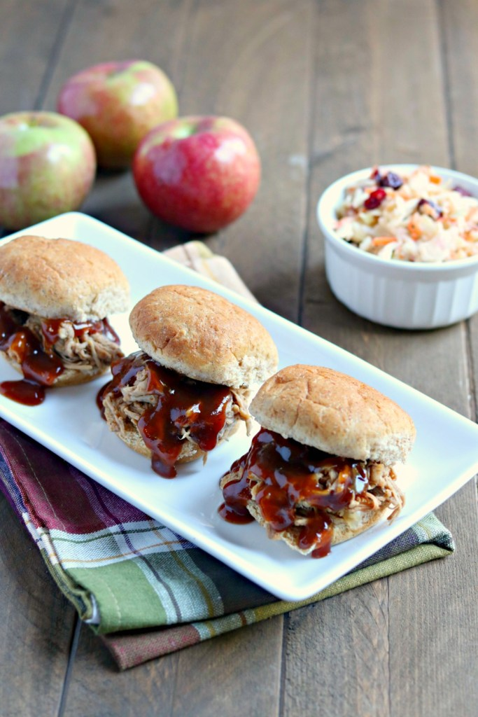 Slow Cooker Apple Cider Barbecue Pulled Pork {and a Pork Tour recap}