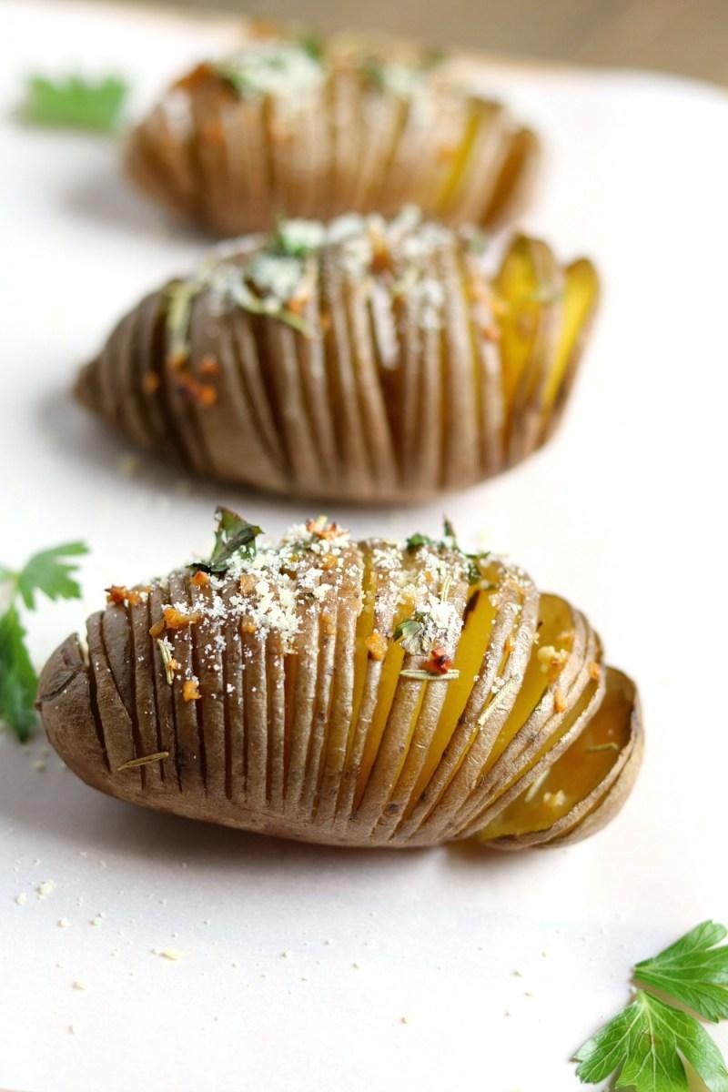 Hasselback Red Skin Potatoes