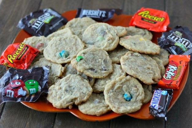 chocolate halloween candy cookies