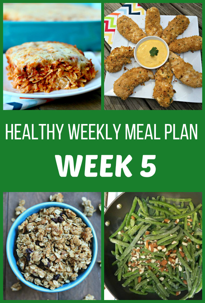 Healthy Weekly Meal Plan {Week Five}