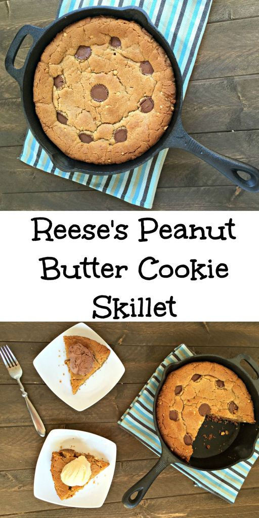 Reeses peanut butter cookie skillet