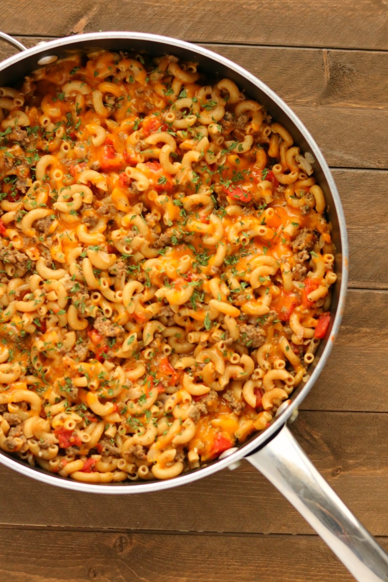 One Pot Cheeseburger Macaroni