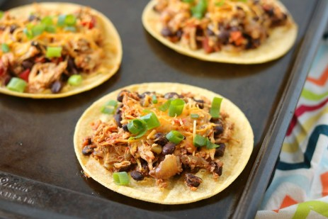 slow cooker mexican chicken tostadas