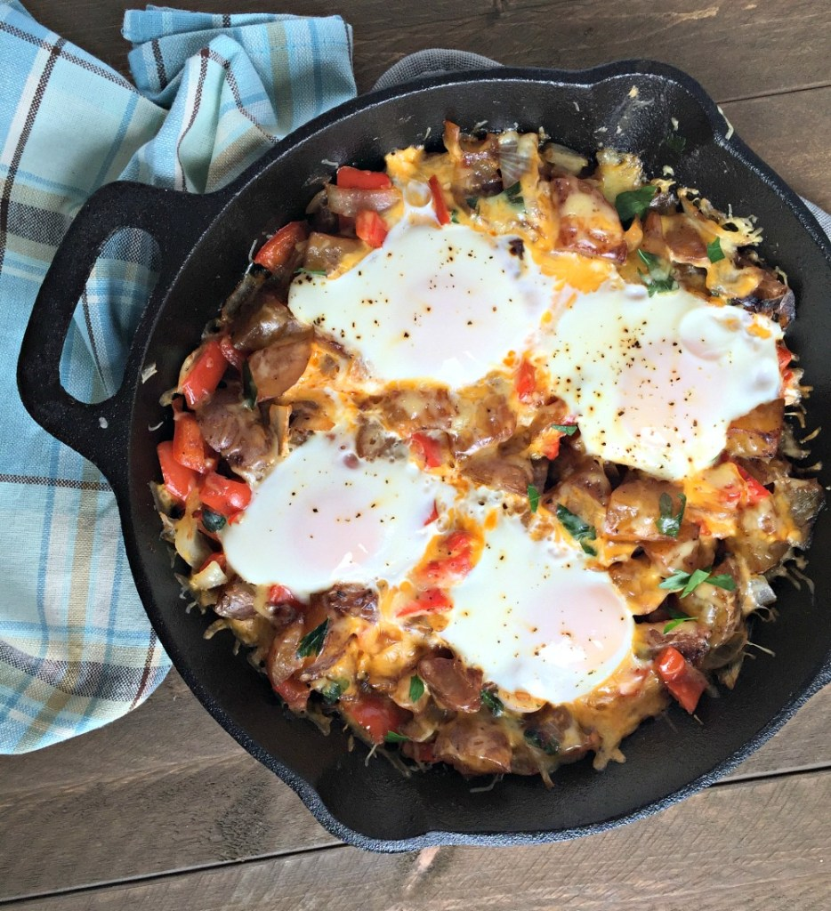Cheese, Egg & Potato Breakfast Skillet