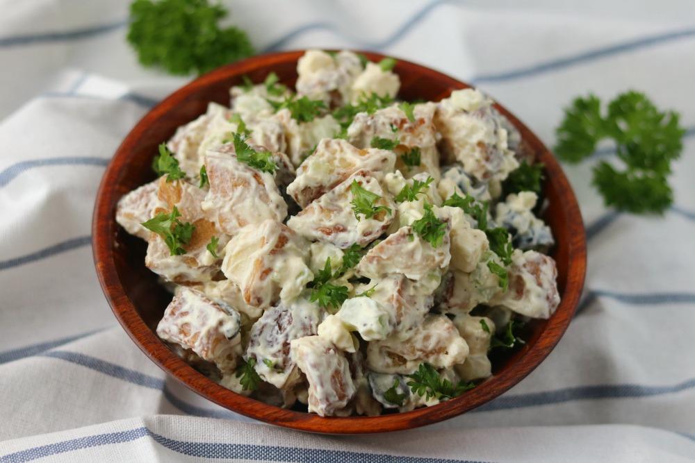 Healthy Greek Potato Salad {with Greek yogurt}