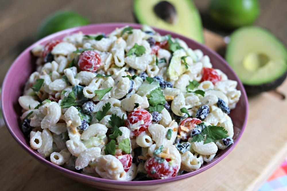 {Healthy} Creamy Avocado Lime Pasta Salad