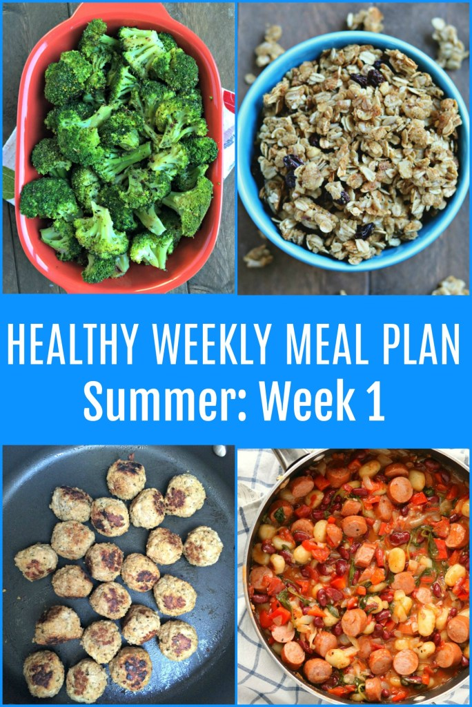 Healthy Weekly Meal Plan {Summer: Week One}