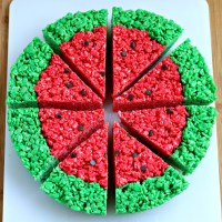 Watermelon Crispy Cereal Treats {and my take on moderation}