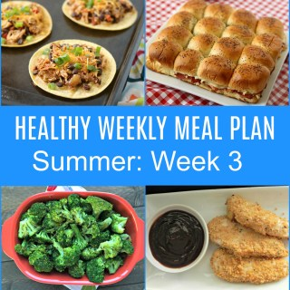 weekly meal plan.summer week 3