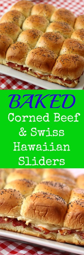 baked corned beef swiss sliders