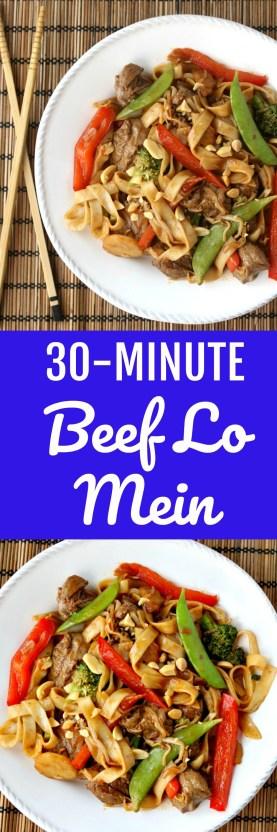 30 minute beef lo mein