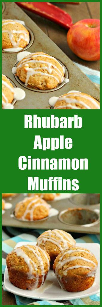 rubarb apple cinnamon muffins