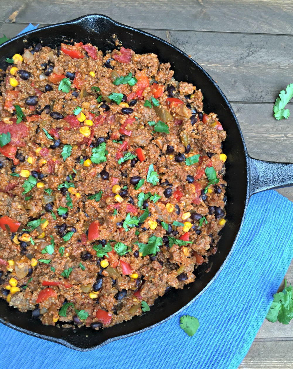 ... Mexican Beef Skillet with quinoa added for an extra dose of nutrition