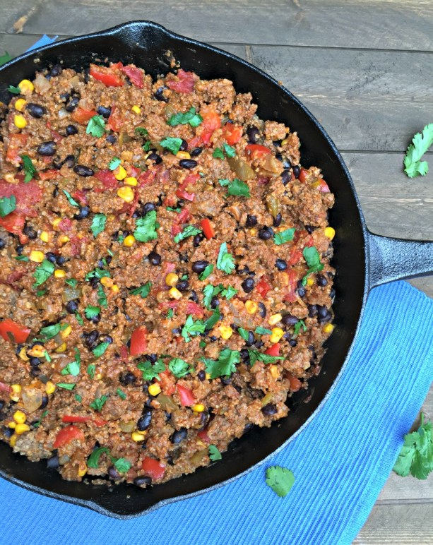 Mexican Beef skillet with quinoa