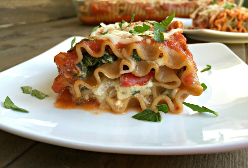 Vegetable Lasagna Rolls