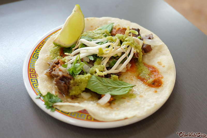 Beef taco at Ghostboy Cantina,, Chinatown, Sydney