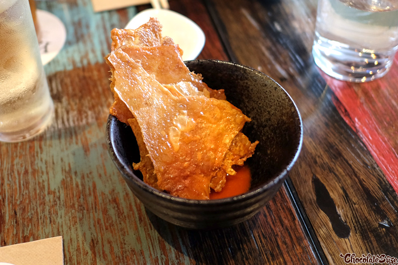 Cirspy chicken skin at Yang & Co, Castlecrag