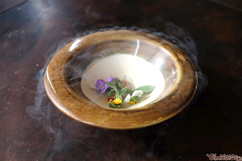 Lemon myrtle, wood sorrel at Vue de monde, Melbourne
