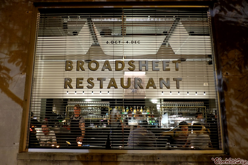 Broadsheet Restaurant, Waterloo