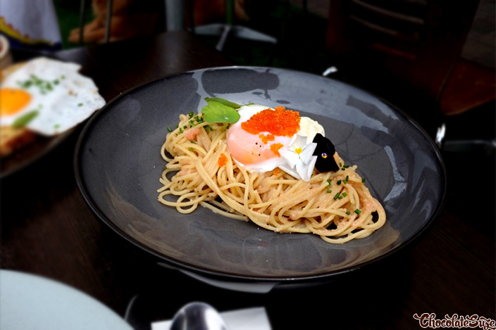 Mentaiko Pasta at Double Cross Espresso Bar, Crows Nest