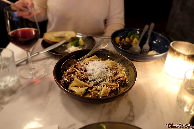 Hand-cut pappardelle at Big Poppa's, Darlinghurst