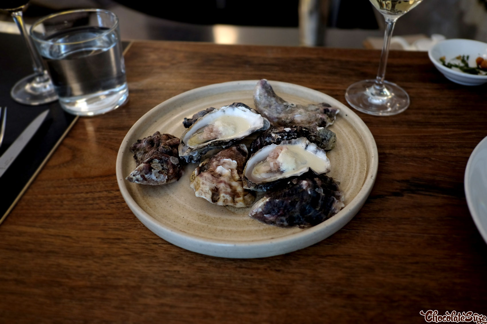 Roasted rock oysters at Ester, Chippendale