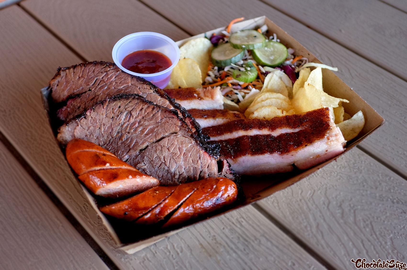 Brisket, links and pork belly at Black Bear BBQ, Blacktown