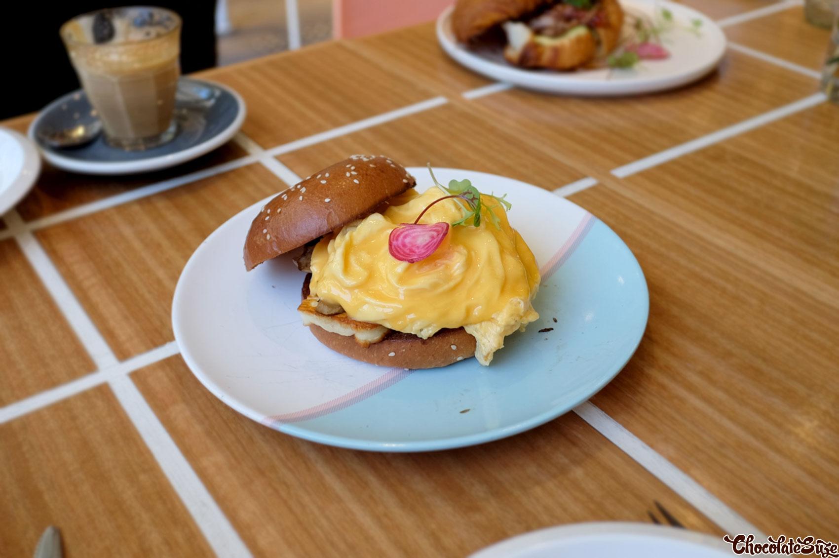 Scrambled egg brioche at Cafe 0.6, Alexandria