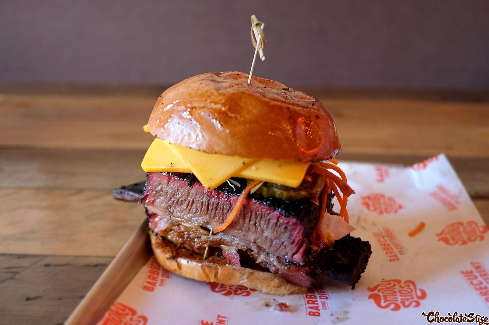 Ribby Mc Ribface Beef Short Rib Burger at Smoky Sue's, Neutral Bay